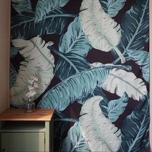 "🌸 Banana Leaf Tapestry 60""x80"" (Twin)"